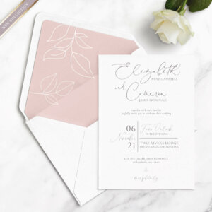 leaf wedding invitations