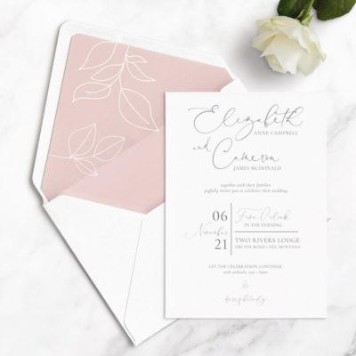 elegant leaf wedding sample kits