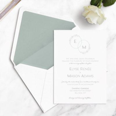 monogram wedding free wedding samples