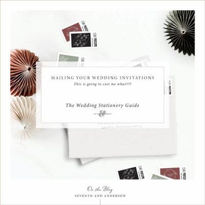 mailing wedding invitations cost