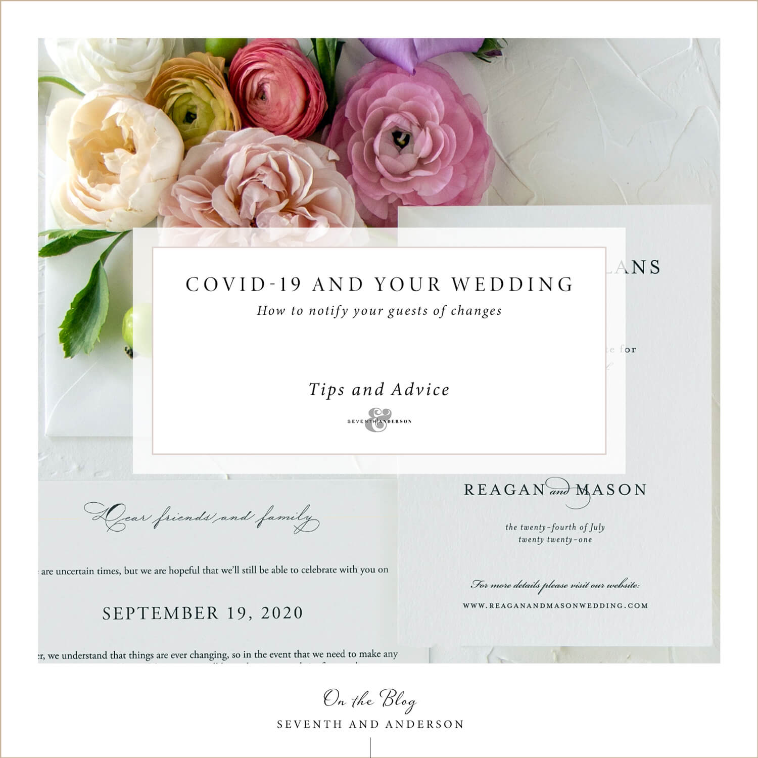 how to notify your wedding guests of changes
