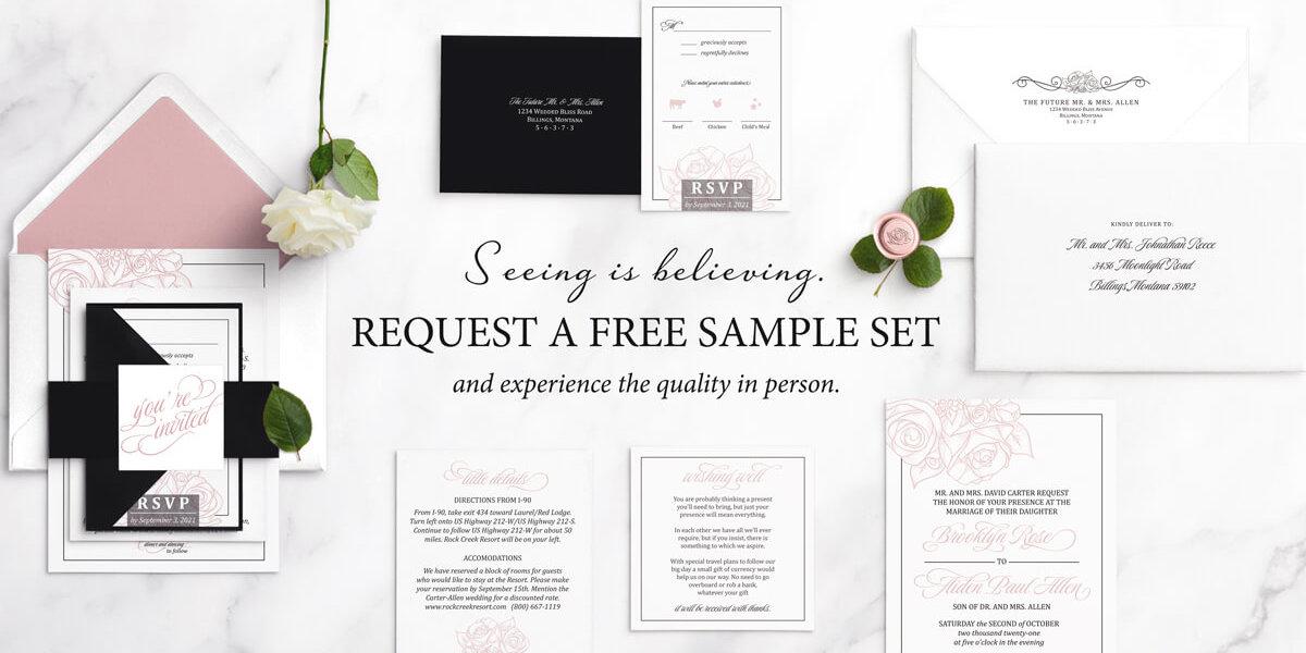 free wedding invitation sample set